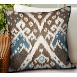 Maddux Ikat Luxury Indoor/Outdoor Throw Pillow