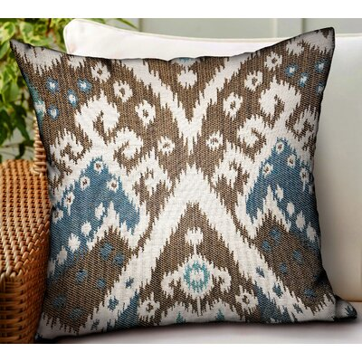 Maddux Ikat Luxury Indoor/Outdoor Throw Pillow by World Menagerie Purchase