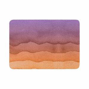 Ombre Sunrise Watercolor Memory Foam Bath Rug