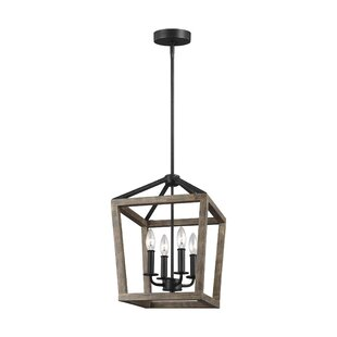 Natarsha 4-Light Lantern Pendant by Birch..