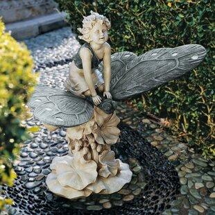 garden fairy statues. A Fairy\u0027s Wondrous Butterfly Ride Statue Garden Fairy Statues