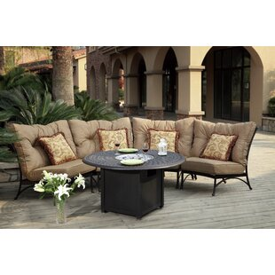 Darby Home Co Lanesville 5 Piece Conversation Set with Cushions