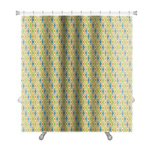 Primo Arabic Geometric Premium Single Shower Curtain