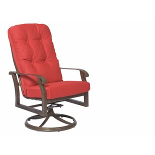 Cortland High Back Swivel Rocking Patio Dining Chair