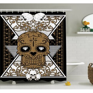 Tattoo Wise Old and Brave Viking Warrior with Long Beard and Armour Shower Curtain Set