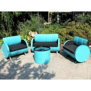 Drum Works Furniture Tucson 4 Piece Sunbrella Sofa Set with Cushions