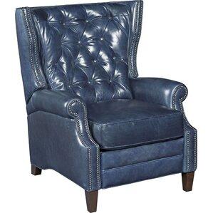 Balmoral Leather Recliner  sc 1 st  Wayfair & Blue Leather Recliner Chair | Wayfair islam-shia.org