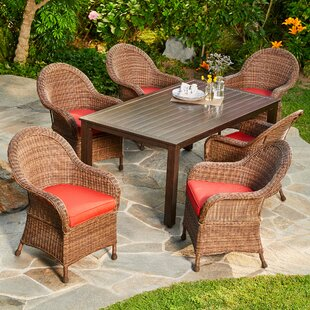 One Allium Way Acree Hacienda 7 Piece Dining Set With Cushions