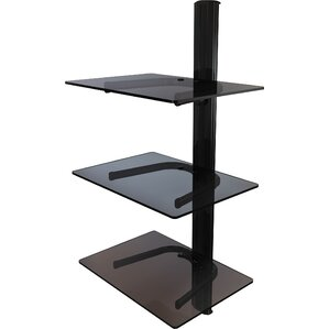 Triple Shelf Wall Mount System with Cable Ma..