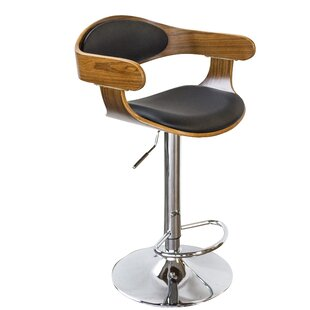 Bent Wood Faux Leather Adjustable Height ..
