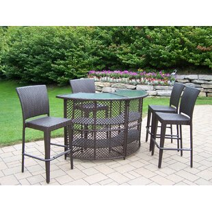 Holder 5 Piece Bar Height Dining Set