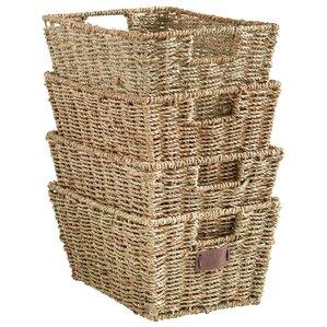 Charming Seagrass Storage Basket (Set Of 4)