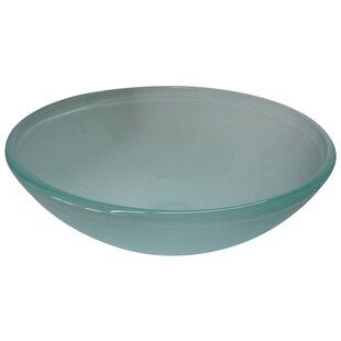 Kingston Brass Templeton Glass Circular Vessel Bathroom Sink