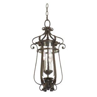 Arazia 3-Light Outdoor Hanging Lantern By Charlton Home