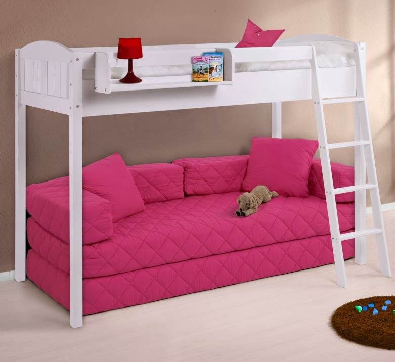 NELE Country European Single High Sleeper Bed