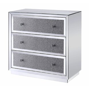 Adamsville Wooden 3 Drawer Accent Cabinet by Everly Quinn