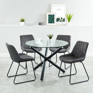 Barbra Contemporary 5 Piece Dining Set