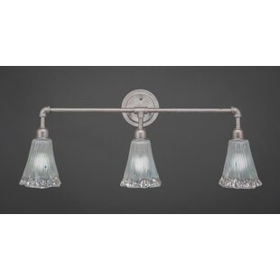 Williston Forge Kash 3-Light Frosted Crystal Vanity Light