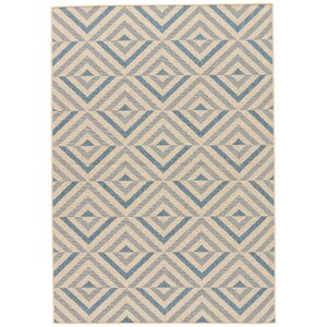 Helle Blue/Beige Indoor/Outdoor Area Rug