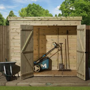 7 Ft. W X 3 Ft. D Shiplap Pent Wooden Shed By WFX Utility