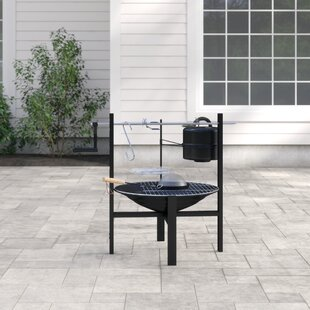 Steel Charcoal/Wood Burning Fire Pit By Gardeco