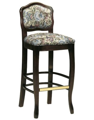 """31"""" Bar Stool AC Furniture Upholstery Color: Howdy Saddle, Frame Color: Wild Cherry"""