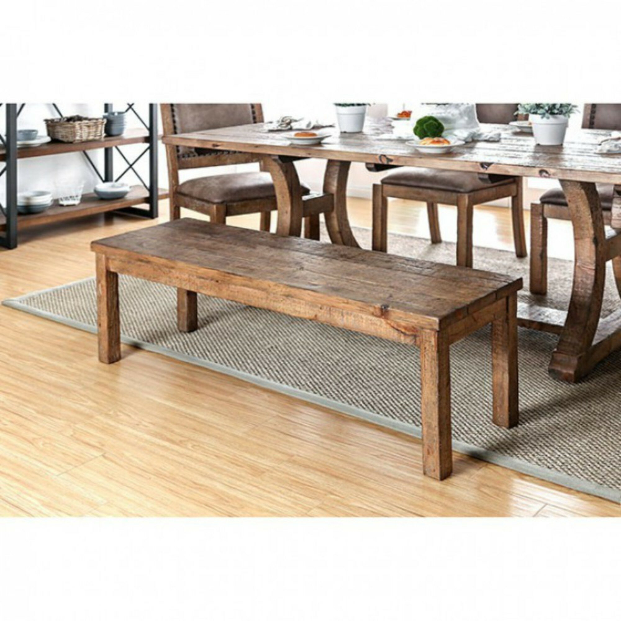 Foundry Select Glenn Old Style Wood Bench | Wayfair