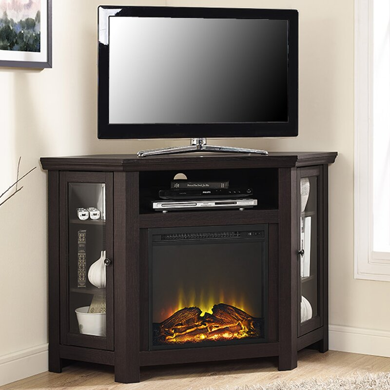 """Union Rustic Rena Corner 48"""" TV Stand with Fireplace ..."""