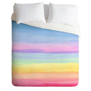 East Urban Home Rainbow Ombre Duvet Cover Set