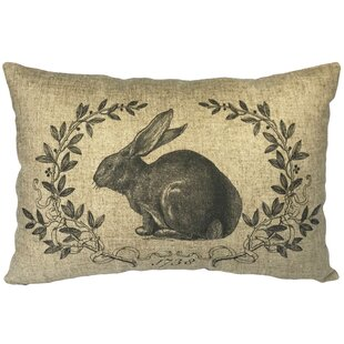 Campuzano French Rabbit Linen Lumbar Pillow