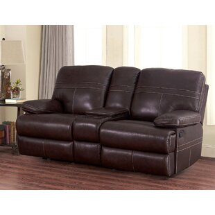 Koehn Leather Reclining Loveseat Red Barrel Studio