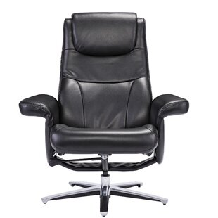 Darby Home Co Kersten Manual Swivel Recliner with Ottoman