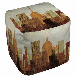 Summer in the City Pouf by Manual Woodworkers & Weavers
