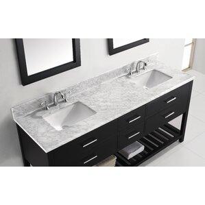 contemporary double sink vanity.  Modern Double Bathroom Vanities AllModern