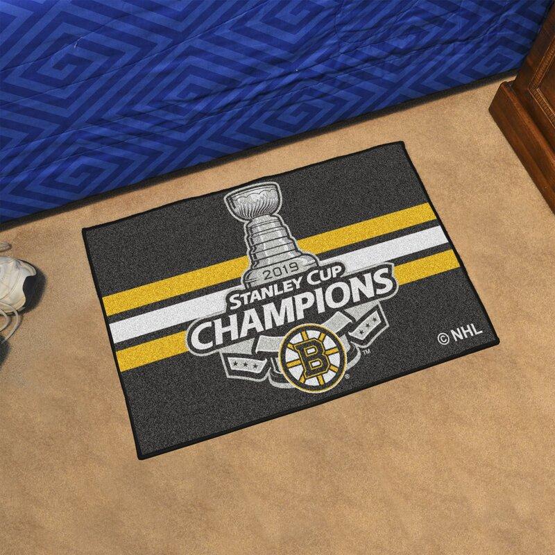 Fanmats Boston Bruins 2019 Stanley Cup Champions Starter 30 In X 19 In Non Slip Indoor Only Door Mat Wayfair Ca