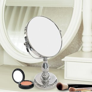 Find for Distefano Round Double Sided Magnifying Standing Makeup/Shaving Mirror By Charlton Home