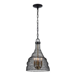17 Stories Jeavon 4-Light Bell Pendant