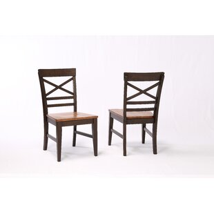 Best Reviews Hayden X Back 2 Tone Dining Chair (Set of 2) by Ophelia & Co. Reviews (2019) & Buyer's Guide