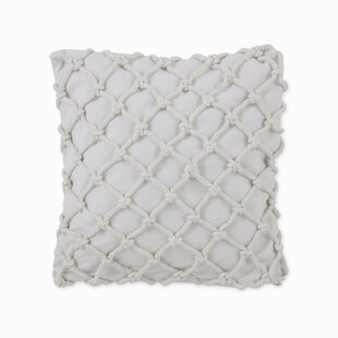 Skipper Stripe Square Knotted Rope Cotton Throw Pillow