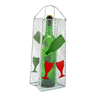 Gift Bag, Wine Glass 1 Bottle Tabletop Wine Rack