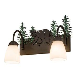 Loon Peak Zigler Lone Bear 2-Light Vanity Lighting
