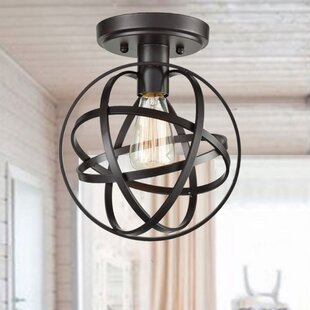 Bahena Globe 1-Light Semi Flus..