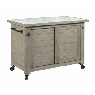 Burt Shiplap Kitchen Island Rosecliff Heights