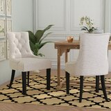 Abby Tufted Cotton Upholstered Side Chair in Taupe (Set of 2) by Willa Arlo Interiors