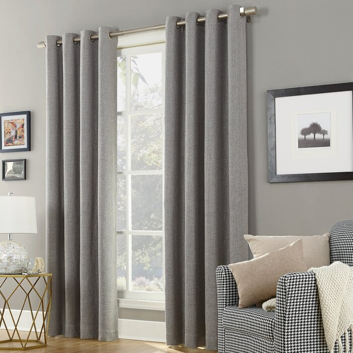 Baxter Home Theatre Grade Extreme Solid Max Blackout Thermal Grommet Single Curtain Panel