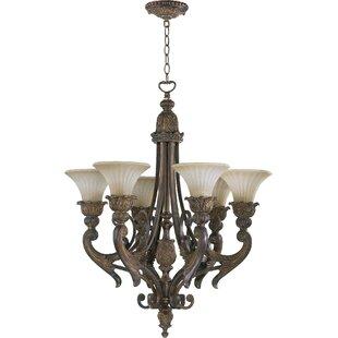 Astoria Grand Mcfarlin 6-Light Shaded Chandelier
