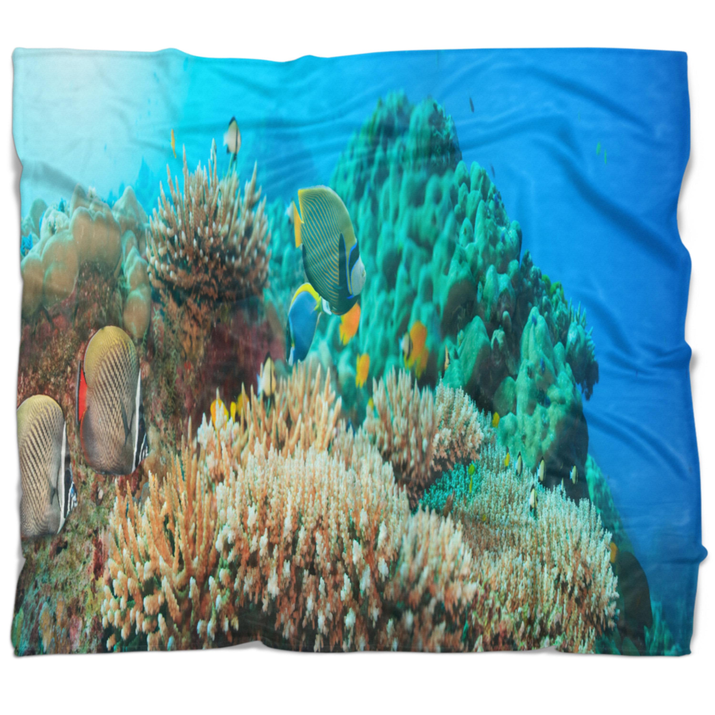 East Urban Home Photography Underwater Panorama Blanket Wayfair