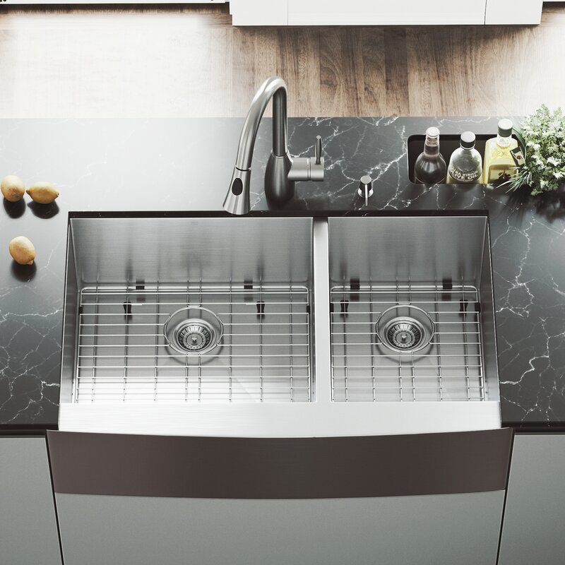 Vigo all in one 36 x 22 double basin farmhouse kitchen sink with all in one 36 x 22 double basin farmhouse kitchen sink with faucet and workwithnaturefo