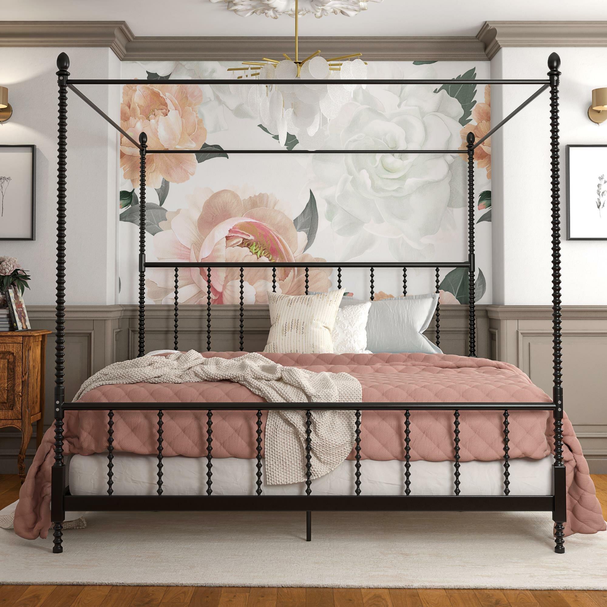 - Gracie Oaks Karlee Metal Canopy Bed & Reviews Wayfair.ca