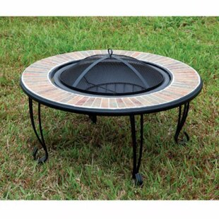 Banno Cast Iron Fire Pit Table by Benzara Sale